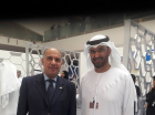 "And PetroScience & Solution DMCC representative was : Mr. Medhat Hassan "" Managing Director"" , as well as he meets Dr. Sultan Ahmed Al Jaber, UAE Minister of State and ADNOC Group CEO & take a photo with him."